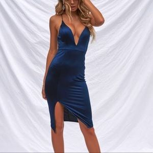 Xenia Getting Over You Satin Dress